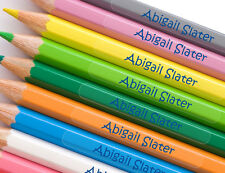 4cm Bright Star Kids Sticky Name Labels for Pencils - Clear Personalised Sticker