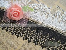 1 yard Embroidery Polyester Lace Edge Trim Wedding Ribbon DIY Sewing Craft S8