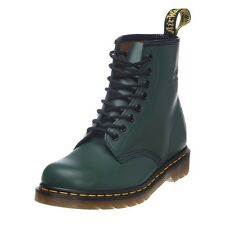 Dr. Martens - 1460 Smooth 59 Last, 8-hole Leather Boots with yellow Seam Green