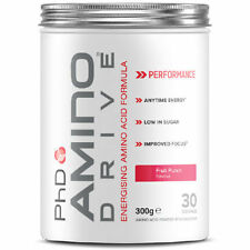 PhD Nutrition Amino Drive 300g BCAA Amino Acid Drink Pre Workout With Caffeine