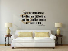 Anchor Wall Quote - He is the anchor - Vinyl Wall Art Decal - LDS Christian