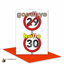 Funny 30th Happy Birthday Card for him for her 30 birthday wishes card 30th bday