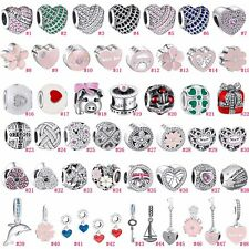 AU New Silver Charms Beads Pendant Fit European 925 Sterling Silver Bracelets