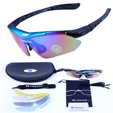 Bicycle Bike Cycling Sport UV Glasses 5 Pair Lens Sunglasses Outdoor Googles