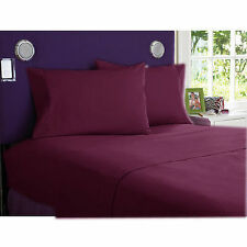 NEW BRAND WINE 1000TC EGYPTIAN COTTON COMPLETE BEDDING COLLECTION SHEET SET