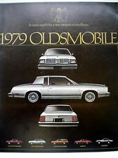 1979 Oldsmobile Cutlass & Omega Factory Catalog Brochure