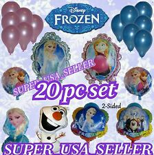20pc set Frozen Elsa Anna Olaf Foil Balloon Toys Decor Birthday Party Supply USA