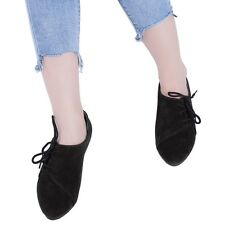 Fashion Womens Suede Casual Shoes Slip On Flats Loafers Lace-up Shoes SAU