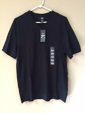 Calvin Klein CK Men Short Sleeve V-Neck T-Shirt 100% Cotton - Black - Medium