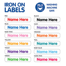 Personalised Iron On Name Label Tags For Clothing, School Uniforms, Daycare