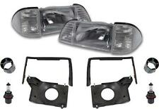 1987-93 Ford Mustang Deluxe Headlight Kit with Clear Sidemarkers FREE SHIPPING!