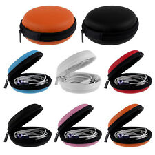 Earphone Headphone SD Card Round Carrying Storage Bag Box Pouch Coin Purse CAZ