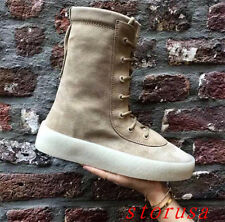 Women Flat Heel Suede Lace Up Ankle Boots Shoes Street Dancing Party Shoes Size