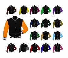 Premium All Wool Varsity Letterman Baseball College Jacket Sleeves Multi-Colors