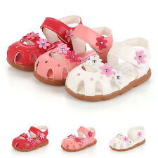2016 New Soft  Summer Kids Girls Baby Princess Flowers Shoes Flat Pumps Sandals