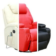 Armchair Massage Chair Leather Recliner Swivel Cinema Rocking AdjustablHeadrest