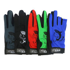 Fishing Wear Gloves 5 Pairs Outdoor Anti Slip Fish Sailing Gloves 3 Fingers Cut