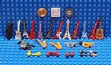 LEGO MUSICAL INSTRUMENTS ~ Guitar Saxophone Violin Case Bugle Horn Bagpipes NEW