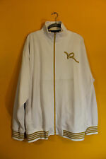 New Rocawear Classic R logo zipper up track jacket gold white men's 5X Big&Tall
