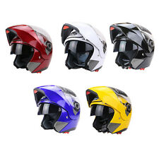 Double Lenses Motorcycle Helmet Motor Bike Full Face Anti-fog Safety Scooter JQ