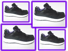 WOMENS LADIES black/lilac WORK SAFETY STEEL TOE CAP  SHOES TRAINERS SIZE UK 4