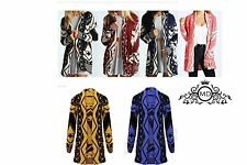New Ladies Womens Long Aztec Chunky Knit Sweater Cardigan Jumper Size S-XXL