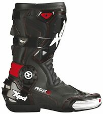"""SPIDI XPD XP7-R MOTORCYCLE RACE ROAD TRACK BOOTS """"BLACK / RED"""" SIZE 40 41 42 47"""