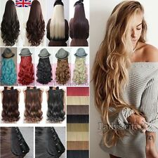 100% Real Natural Full Head Clip In Ins Hair Extensions Synthetic as human T55