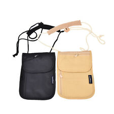Secure Passport Neck Pouch Money Cord Clothes Wallet  Holder Bag X1 NEW