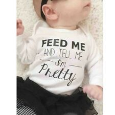 Toddler Newborn Kids Baby Boy Girls Infant Jumpsuit Romper Clothes Bodysuit EFFU