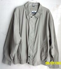 Basic Concepts Men's X-Large Polyester/Nylon Greyish Beige Windbreaker Jacket