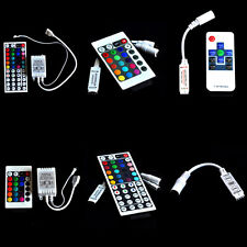 For 3528 5050 RGB LED Strip Light 3/10/24/44 Key IR Remote Wireless ControllerUS