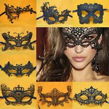 Lady Black Sexy Lace Eye Mask Ball Halloween Party Masquerade Butterfly Catwoman