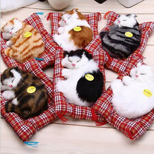 Sleeping cat Birthday gift Decor doll Simulation Doll With sound toy Stuffed toy