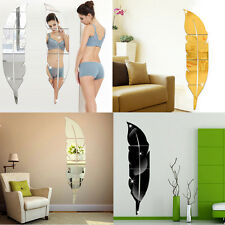 3D DIY Acrylic Removable Home Mirror Wall Stickers Decal Art Vinyl Room Decor