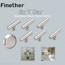 6XT Bar Stainless Steel Kitchen/Cupboard/Cabinet Door Handles Drawer Pulls Knobs