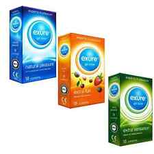 18 Pack Condoms from Exure Natural Flavoured Ribbed Big Saving Choice Selection