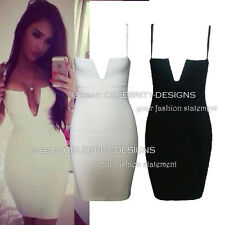 dp121 Celebrity Style Sexy V-neck Bustier Top Bodycon Mini Party Cocktail Dress
