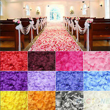 200pcs Chic Silk Rose Flower Petals Leaves Wedding Party Decorations Pretty