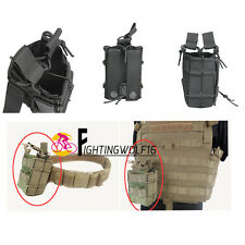 Military Tactical Double Pistol Magazine Pouch 1000D Molle Portable Rifle Bag
