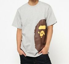 A BATHING APE SIDE BIG APE HEAD TEE 4 colors Mens Round Neck T-shirt From Japan
