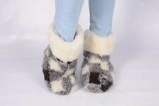 New Women 100% Sheep Wool Leather Hot Warm Winter House Home Indoor Slippers lot