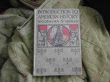 ELEMENTARY AMERICAN HISTORY AND GOVERNMENT HARDBACK COVER BY WOODBURN AND MORGAN