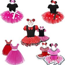 Xmas Minnie Mouse Outfits Baby Girls Kid Party Costume Ballet Dance Tutu Dresses