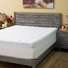 """Sleep Better Memory Foam Mattress Topper 4.5"""" Combined Pad and Topper With Skirt"""