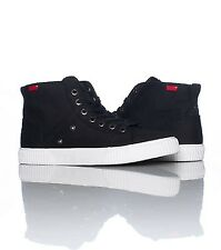 LEVIS 515123-01A MURAL HI CANVAS Mn's (M) Black Canvas Lifestyle Hi-Top Shoes