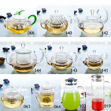 Various Hand Blown Heat-Resisting Glass Tea Pot Flower Teapot w/ Infuser & Lid