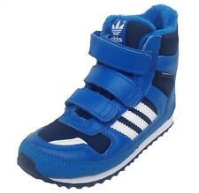 Adidas Infants Kids ZX Winter Comfort Mid Boot G95921 Blue/Blk/White UK 4,8.5k