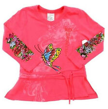 Gorgeous Ed Hardy Black cotton flower Tattoo cute Baby Toddler Shirt Tunic Top