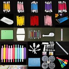 Cake Decorating Tools Set Sugarcraft Modelling Rolling Paste Cutters Smoother KD